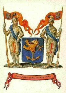 Festina lente cauta fac omnia Mente Coat of Arms