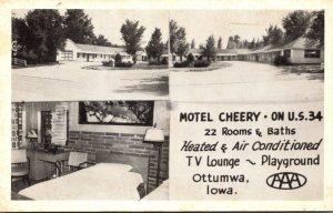 Iowa Ottumwa Motel Cherry 1956
