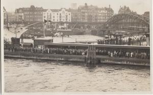 HAMBURG GERMANY - People lining the piers / docks 1930s era - PRE WAR