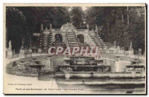 Old Postcard Paris Saint Cloud and its Surroundings The Fountains
