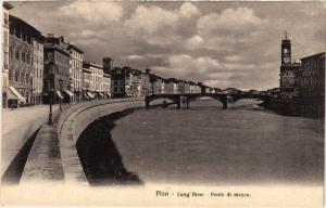 CPA PISA Lung'Arno Ponte di mezzo. ITALY (468134)
