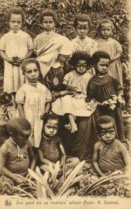PC CPA PAPUA NEW GUINEA, ZOO GOED ALS OP MOEDERS, Vintage Postcard (b19757)