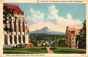 Washington Seattle Library and Physics Hall University Of Washington Campus 1...