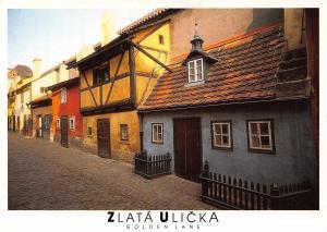 Czech R. Zlata Ulicka Golden Lane Praha Postcard