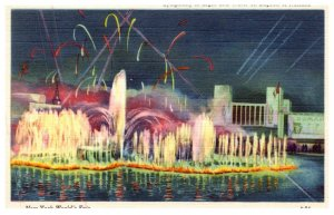New York  Worlds Fair 1939 ,    Symphony in Light and Wonder on Lagoon of Nat...