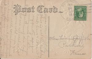 BOICOURT Kansas - 4 BAR CANCEL, dated 1911 on Birthday Wish card