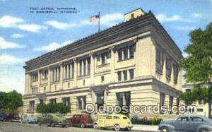 Cheyenne, WY USA,  Post Office Postcard, Postoffice Post Card Old Vintage Ant...