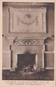 Fireplace In Library Of Kenmore Fredericksburg Virginia Albertype
