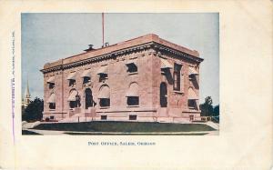 Salem Oregon~Big Round Awnings~Beaux Arts Post Office~1905 Postcard