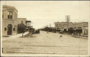 San Benito TX Sam Houston Blvd. Street Scene c1910 Real Photo Postcard