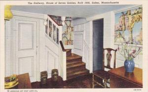 The Hallway House Of Seven Gables Built 1668 Salem Massachusetts