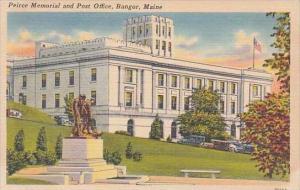 Maine Mount Bangor Peirce Memorial And Post Office