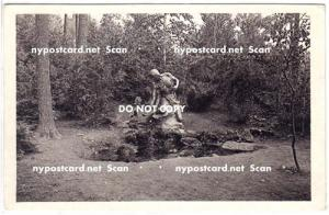 RPPC, Statue, Cooperstown NY