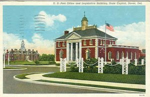 pc7490 postcard Dover Deleware post office postally ued 1941