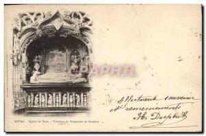 Old Postcard Bourg Brou Church Tomb of Margaret of Bourbon