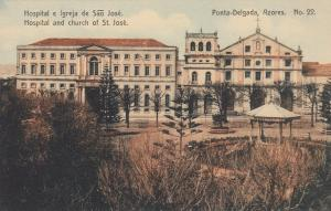 PONTA DELGADA, Azores, Portugal, 00-10s; Hospital and church of St. Jose