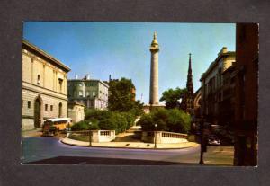 MD Washington Monument Mt Vernon Place Baltimore Maryland Postcard