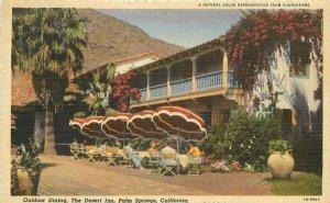 Desert Inn roadside Palm Springs California Dining Willard 1940s Postcard 11148