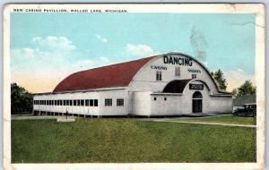 Walled Lake, Michigan Postcard NEW CASINO PAVILION Dance Hall View c1930s