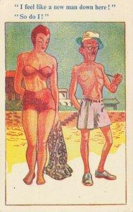 Comic Postcard Garland, Rudolf & Co. W128, Seaside Joke, Humour KK6
