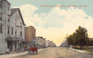 Carrington ND Clothing Store~Florsheim Shoes~Carriage~Dirt Main Street c1908