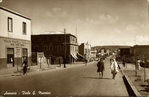 eritrea, ASMARA, Viale G. Mazzini, Molini Fratelli Tosca (1942) RPPC Postcard