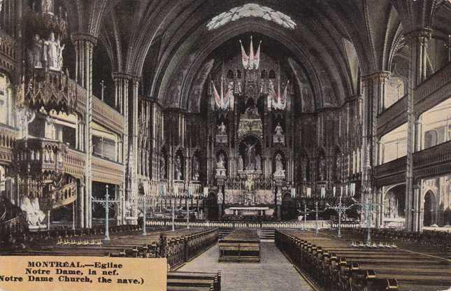 Notre Dame Church - The Nave - Montreal QC, Quebec, Canada - DB