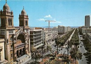Tunisia Tunis Bourguiba Allee, Ave. Cars Voitures Panorama