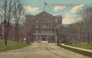 KALAMAZOO , Michigan, 1900-10s ; State Asylum Entrance