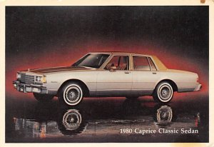 1980 Caprice Classic Sedan Chevrolet Unused stains on card