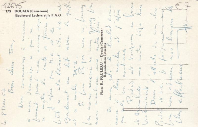 RP; DOUALA, Cameroon, Africa, 30-40s; Boulevard Leclerc Et La F.A.O.