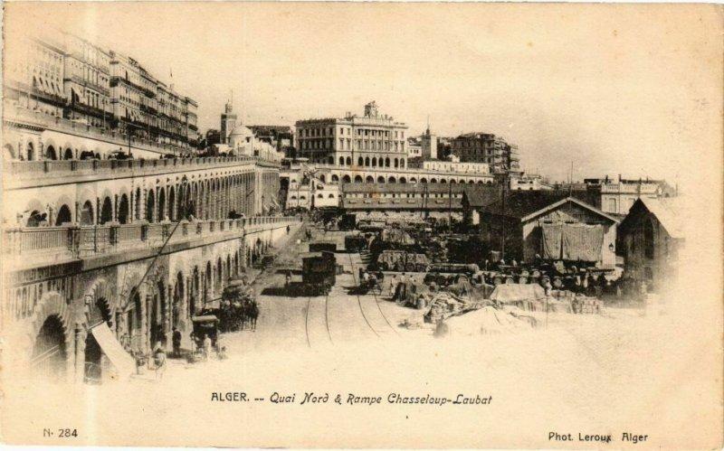CPA AK Algérie-Alger-Quai Nord & Rampe Chasseloup Laubat (238867)