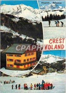 Postcard Modern Crest Voland (Savoy) Alt 1230 m Pious the Chalet Teleski the ...