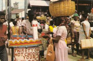 Choose Your Flavour African Drinks Market Stall Caribbean 1970s Africa Postcard