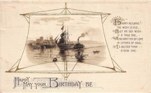Birthday Sailing Ships, Tugboat, inside a Sail,