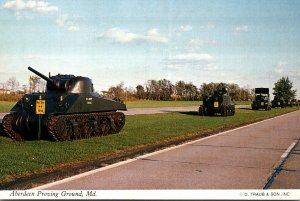 Maryland Aberdeen Proving Ground U S M4 Sherman Medium Tank
