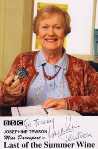 Josephine Tewson Last Of The Summer Wine Hand Signed BBC Cast Card Photo
