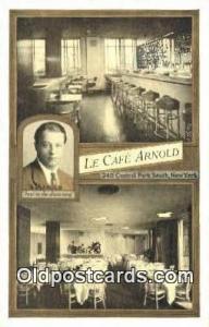 La Café Arnold Restaurant, New York City, NYC Postcard Post Card USA Old Vin...