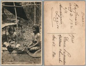 INDIAS CHAGNANCO LEDESMA JUJUY ARGENTINA ANTIQUE PHOTO RPPC NUDE WOMEN TOPLESS