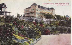 Scenic view,Lakeview Hotel and Westlake Park,Los Angeles,California,PU-1913