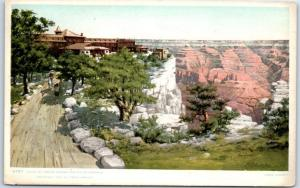Grand Canyon AZ Postcard HOTEL EL TOVAR Bird's-Eye View Fred Harvey Pub. 1907