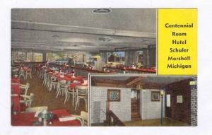 2Views, Centennial Room Hotel Schuler, Marshall, Michigan, 1930-1940s