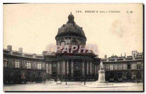 Postcard Old Paris 6th stop Institute