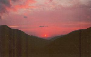 Sunset Great Smoky Mountains National Park, 1955 unused P...