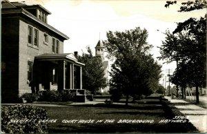 Vtg Postcard RPPC 1940s Hayward Wisconsin WI Sherrif's House & Court House UNP