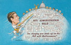 Political Humour Malfuzziness Ronald Reagan Anti-Administration Bills