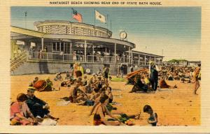 MA - Nantasket Beach. Rear View of State Bath House