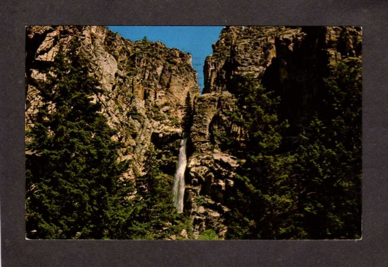 WY Five Springs Falls Waterfall Highway 14 nr Sheridan Lovell Wyoming Postcard
