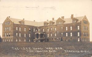 B18/ York Nebraska Ne Real Photo RPPC Postcard 1911 I.O.O.F. Odd Fellows Home