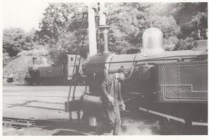 Jeff Kelly Isle Of Man Train Driver on The Loch 4 Train Silver Jubilee Postcard